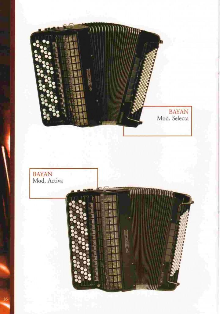 Bugari, концертный баян Selecta и Activa