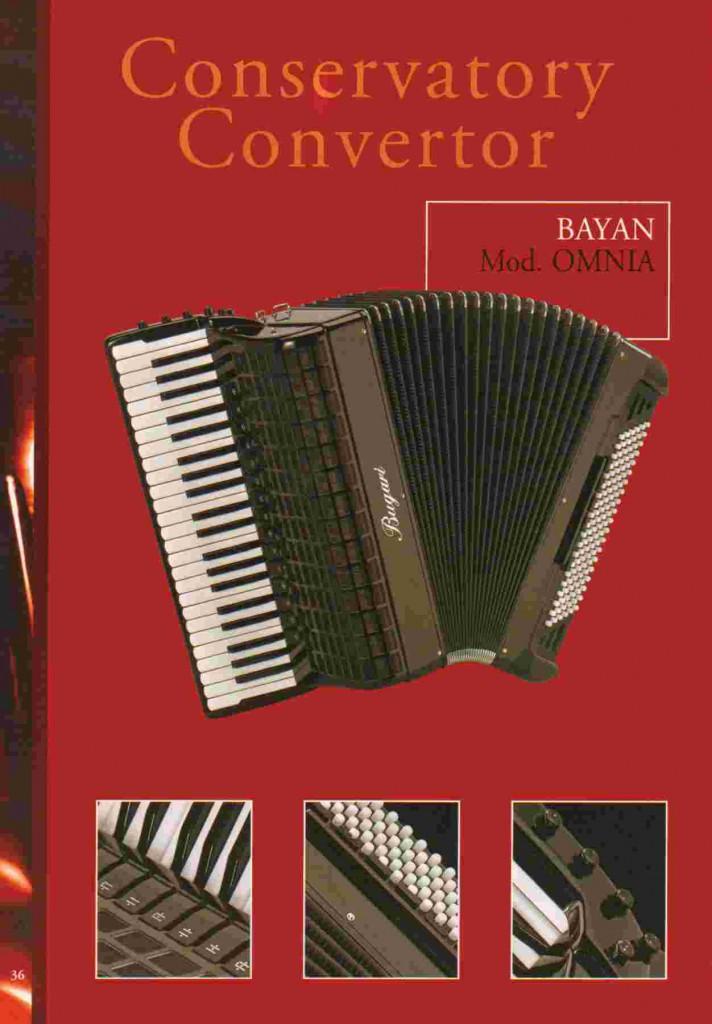 Bugari, концертный аккордеон Omnia