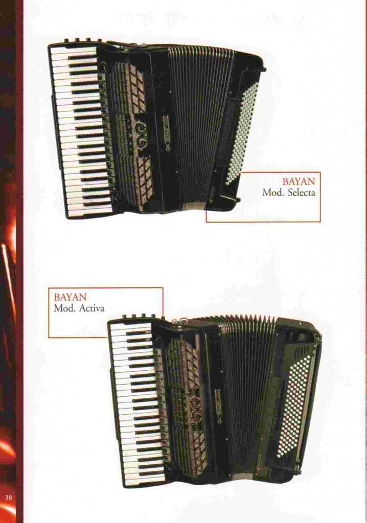 Bugari, концертный аккордеон Selecta и Activa  Conservatory Convertor