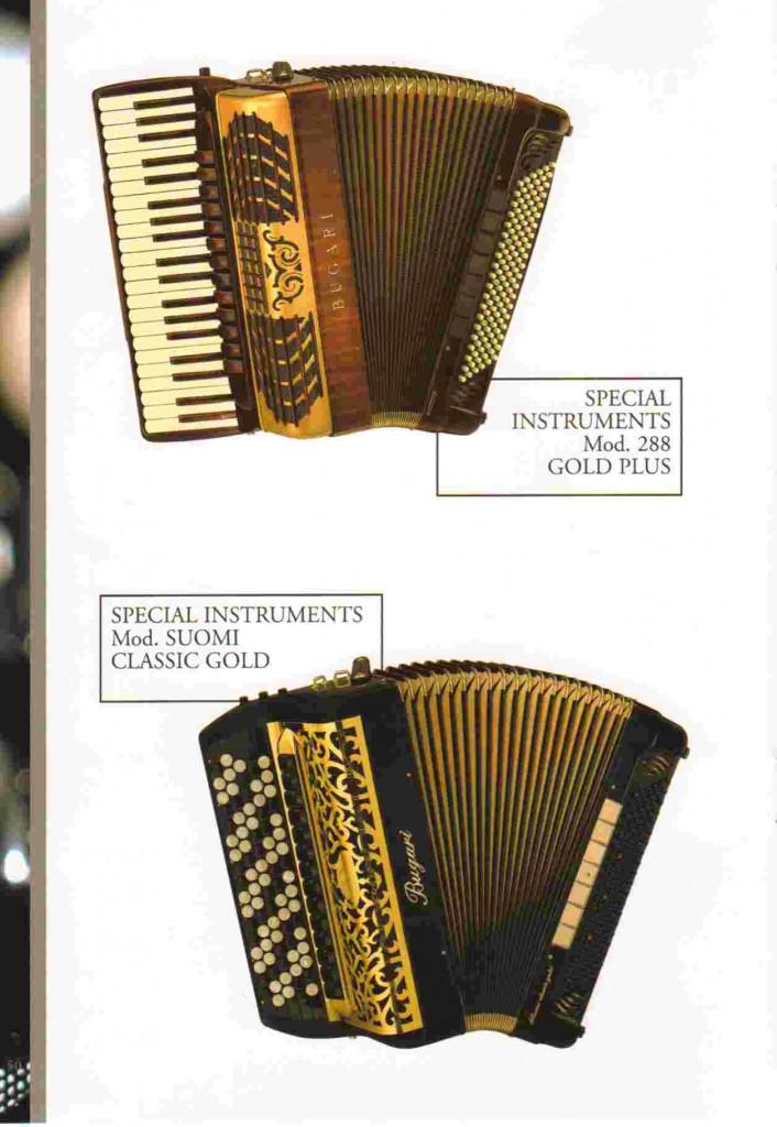 Bugari,специальный аккордеон и специальный баян Suomi и Gold Plus