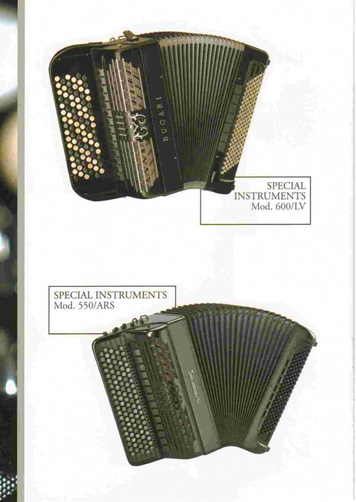 Bugari, специальный баян 600/LV, 550/ARS