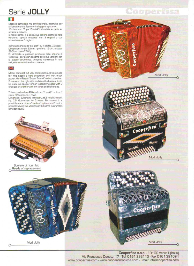Cooperfisa. Баян / button accordion серии Jolly