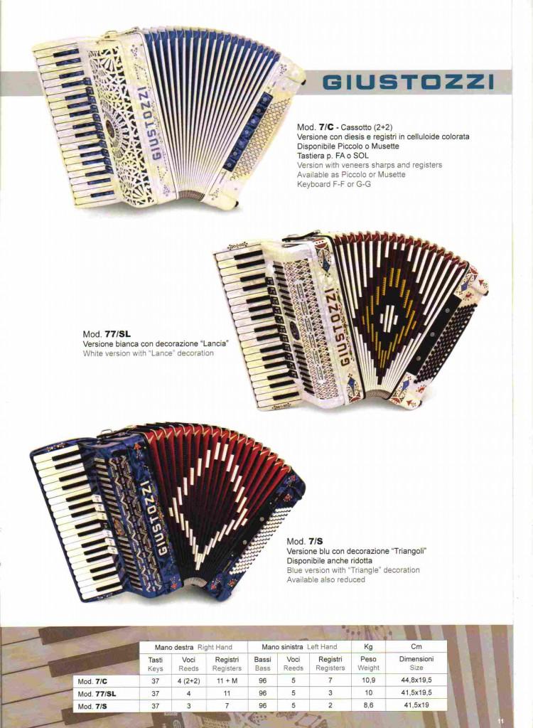 Giustozzi, концертный аккордеон