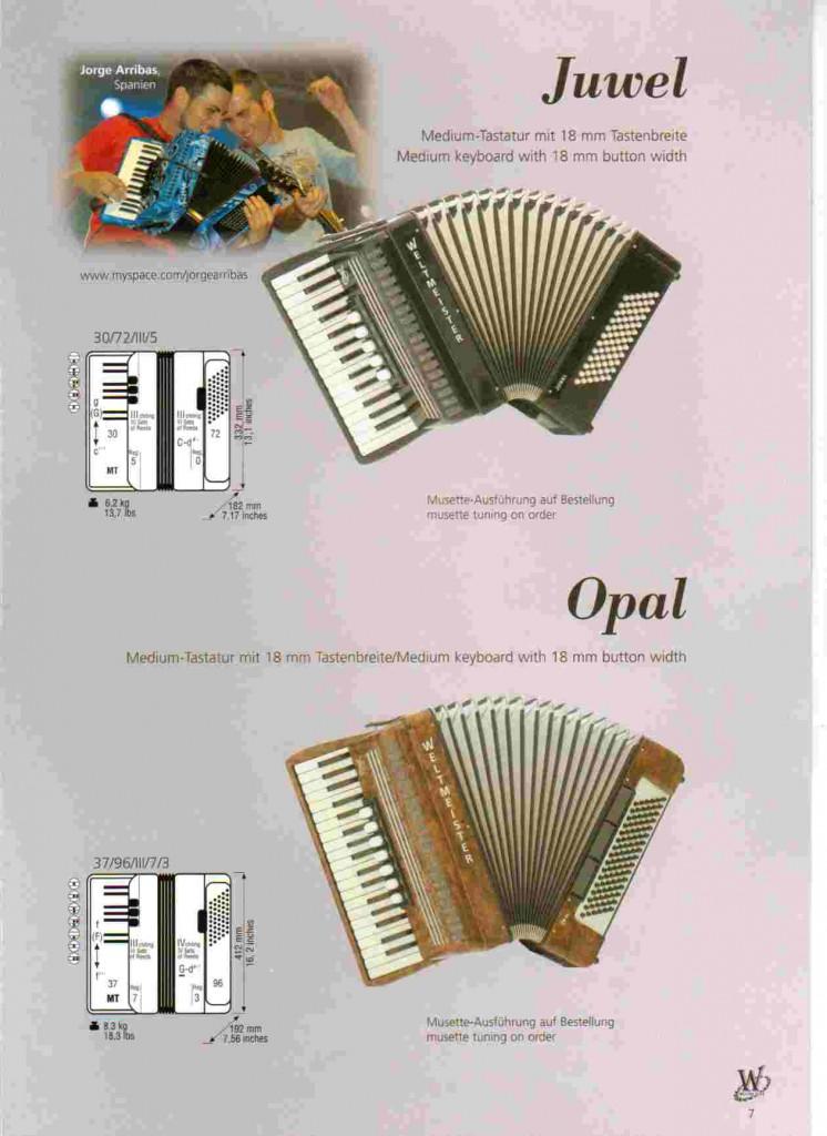 Weltmeister, детский аккордеон Juwel и Opal