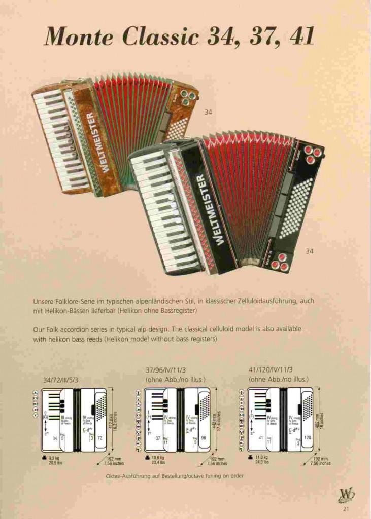 Weltmeister, фольклорный аккордеон Monte Classic
