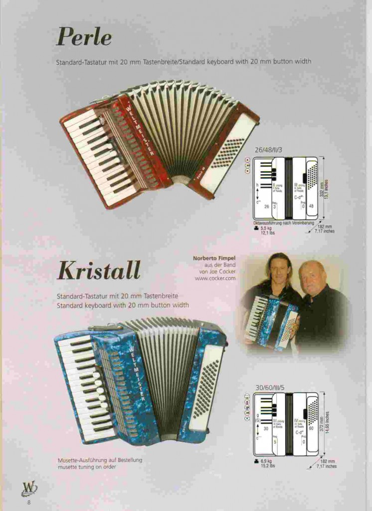 Weltmeister, детский аккордеон Perle и Kristall
