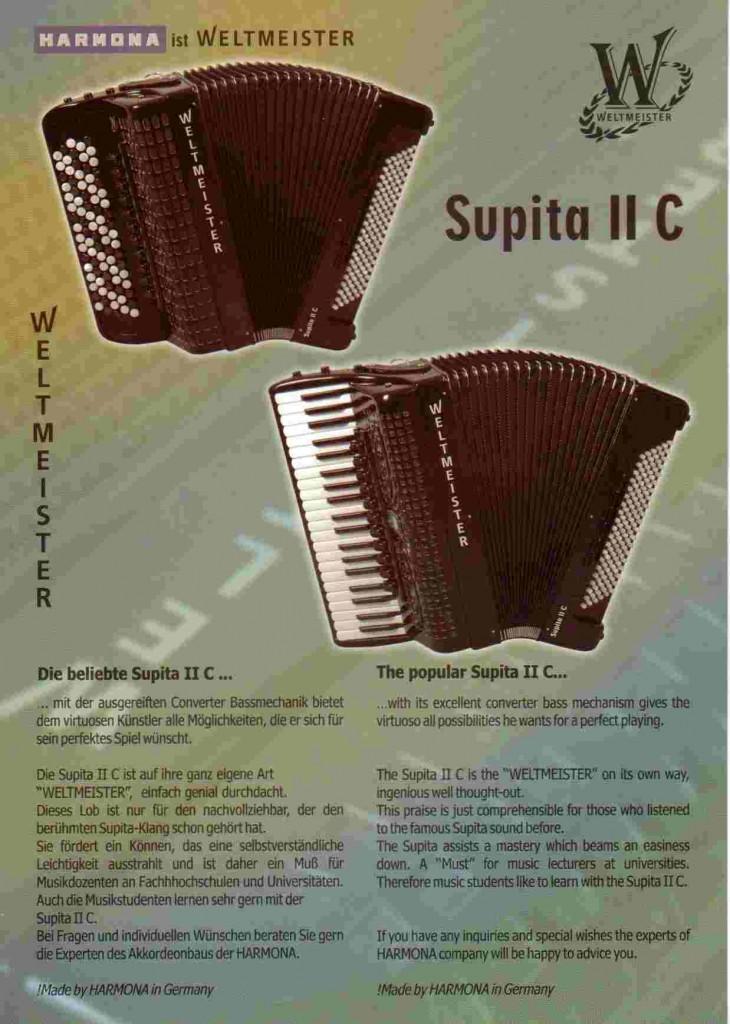 Weltmeister, баян и аккордеон Supita II C
