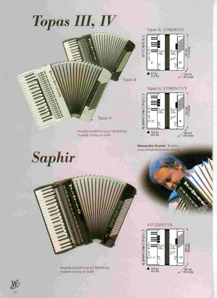 Weltmeister, аккордеон Topas и Saphir