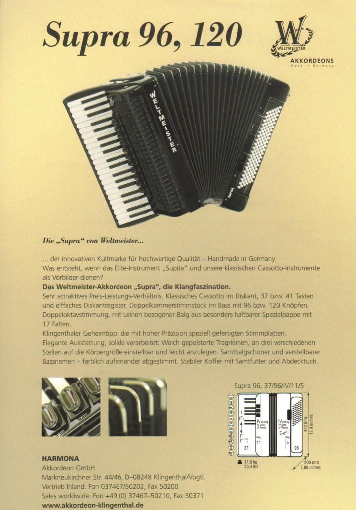 Weltmeister, аккордеон Supra