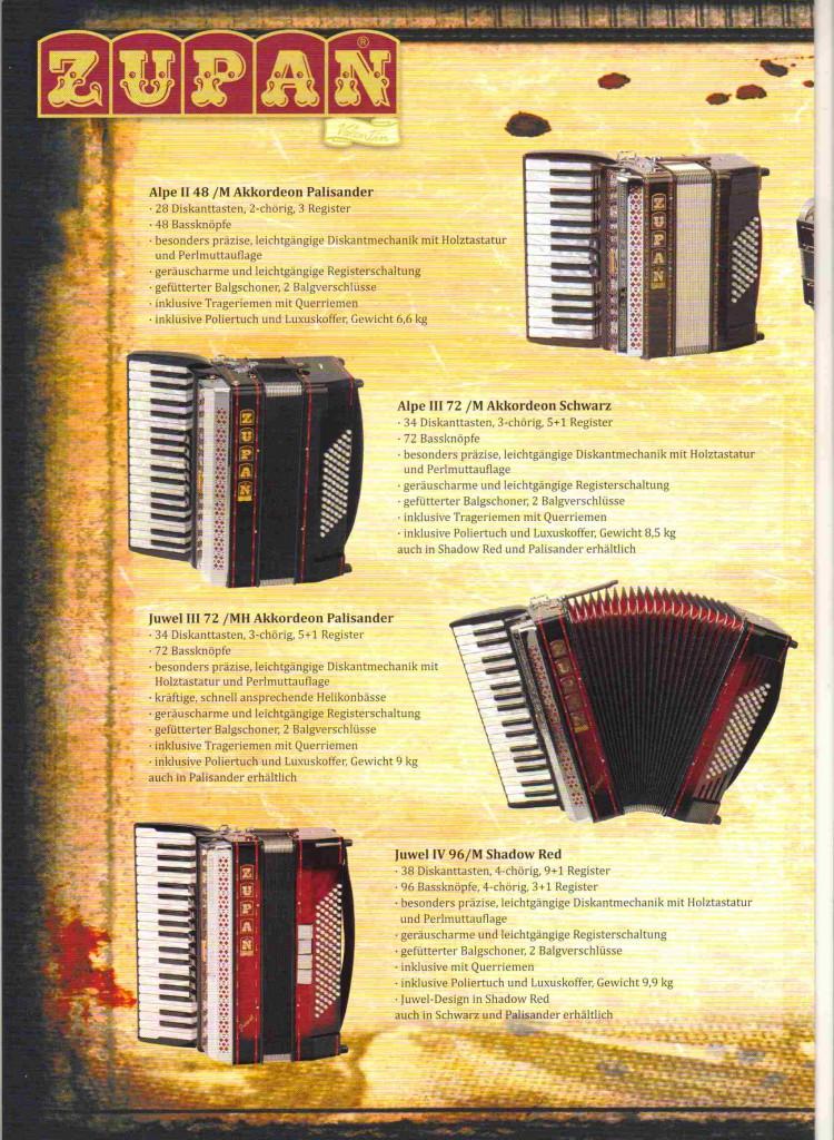 Фольклорный аккордеон Zupan
