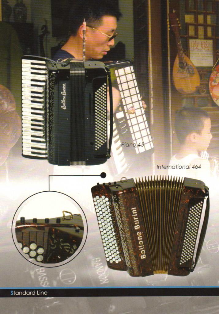 Ballone Burini,аккордеон и баян, Standart Line, Piano, International