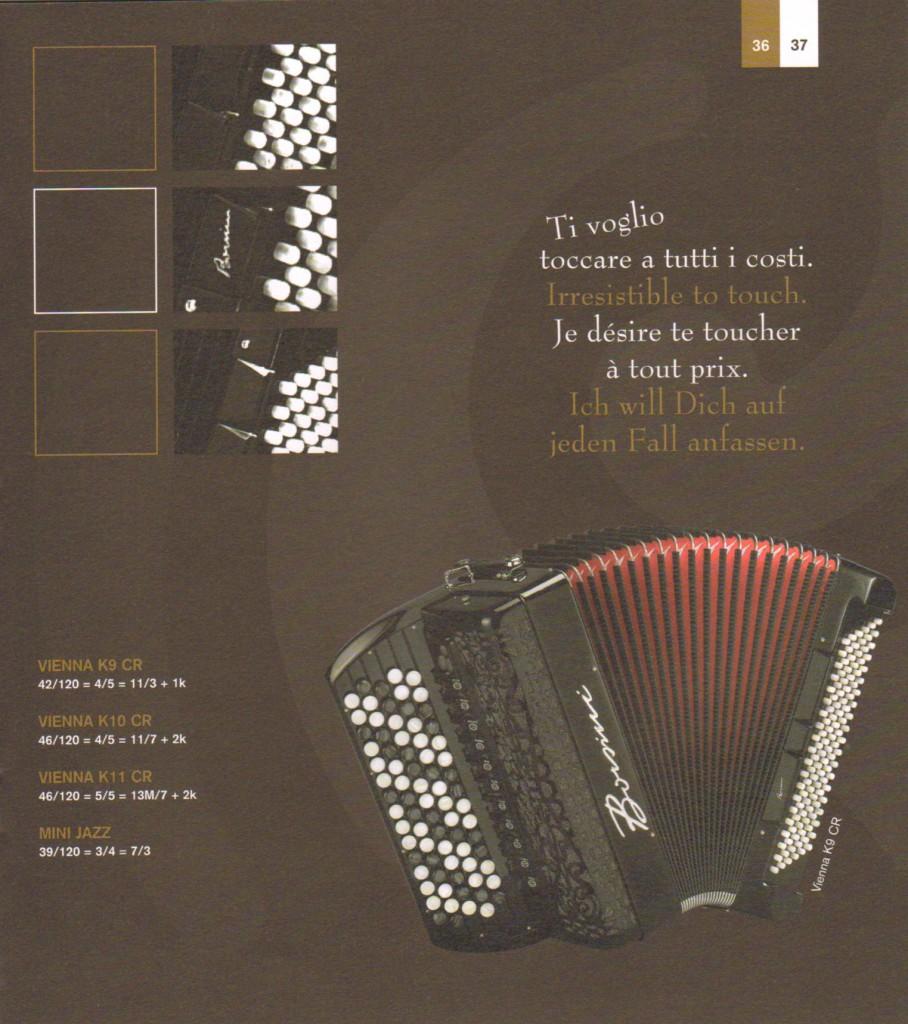 Borsini. Кнопочный аккордеон