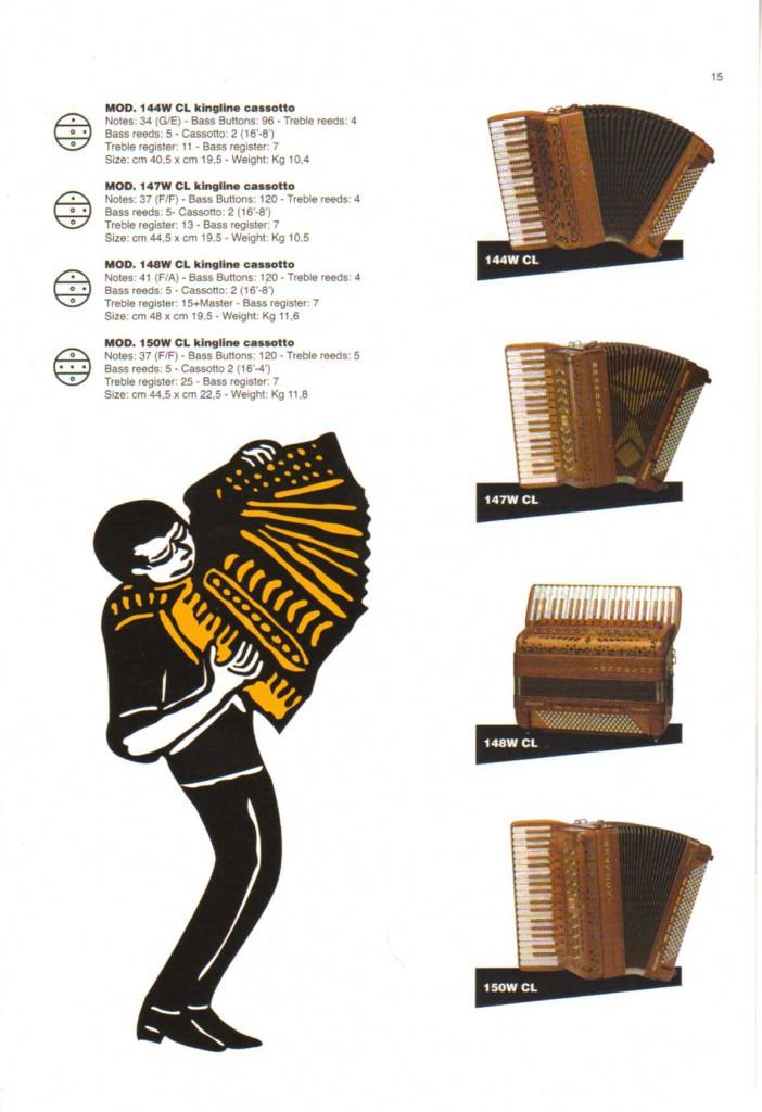 Brandoni, аккордеон из дерева Classic wood, деревянный аккордеон