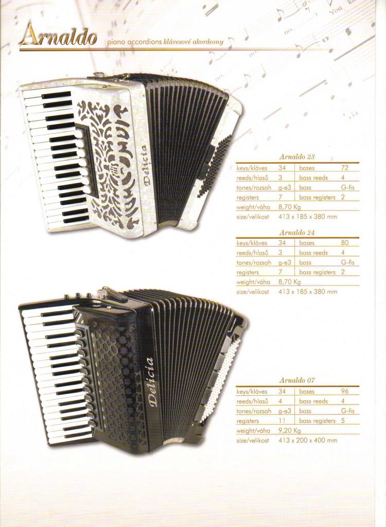 Delicia. Аккордеон Arnaldo.Piano
