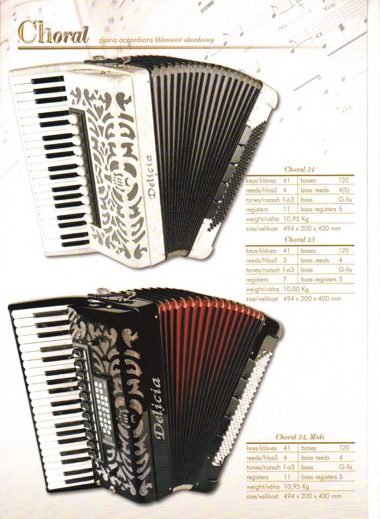 Delicia. Аккордеон Choral, Piano