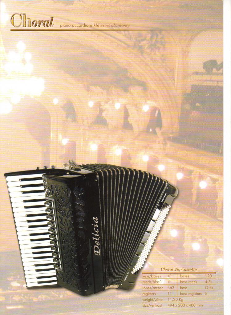 Delicia, Аккордеон Choral Cassotto, Piano