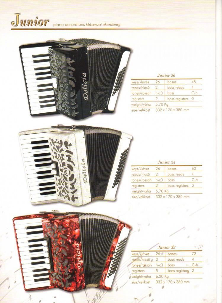 Delicia. Детский аккордеон Junior.Piano