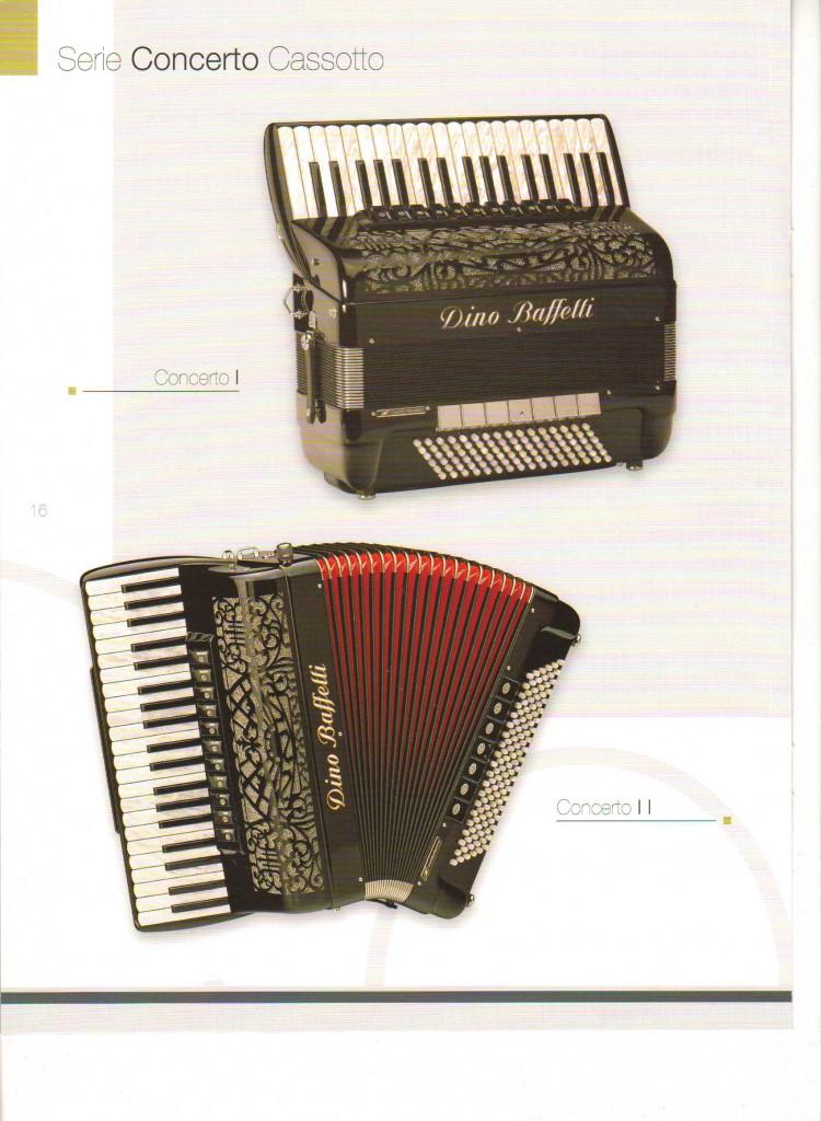 Dino Baffetti. Аккордеон Concerto Cassotto