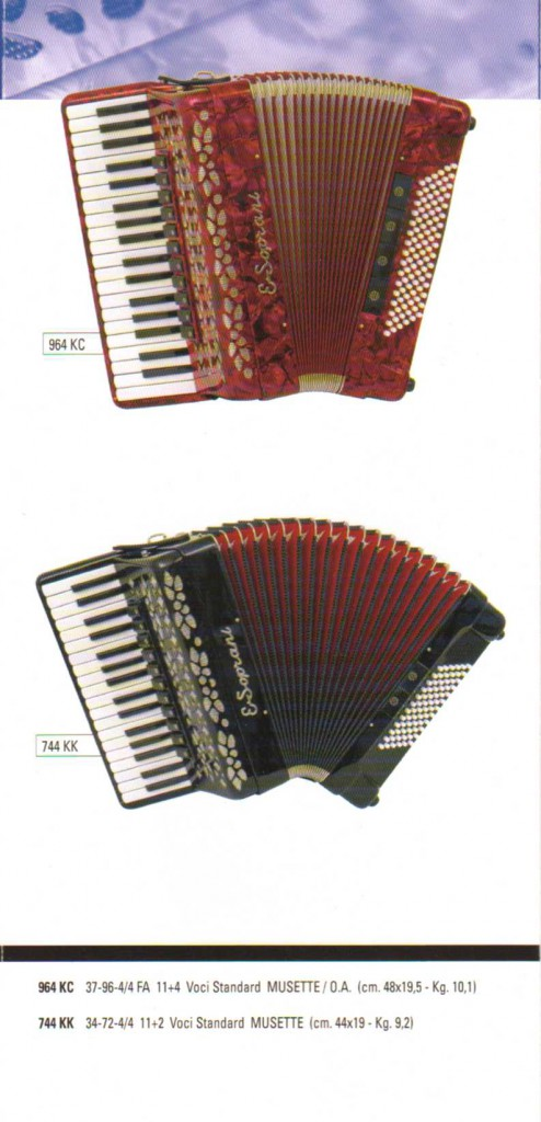 ESoprani. Аккордеон, Accordion
