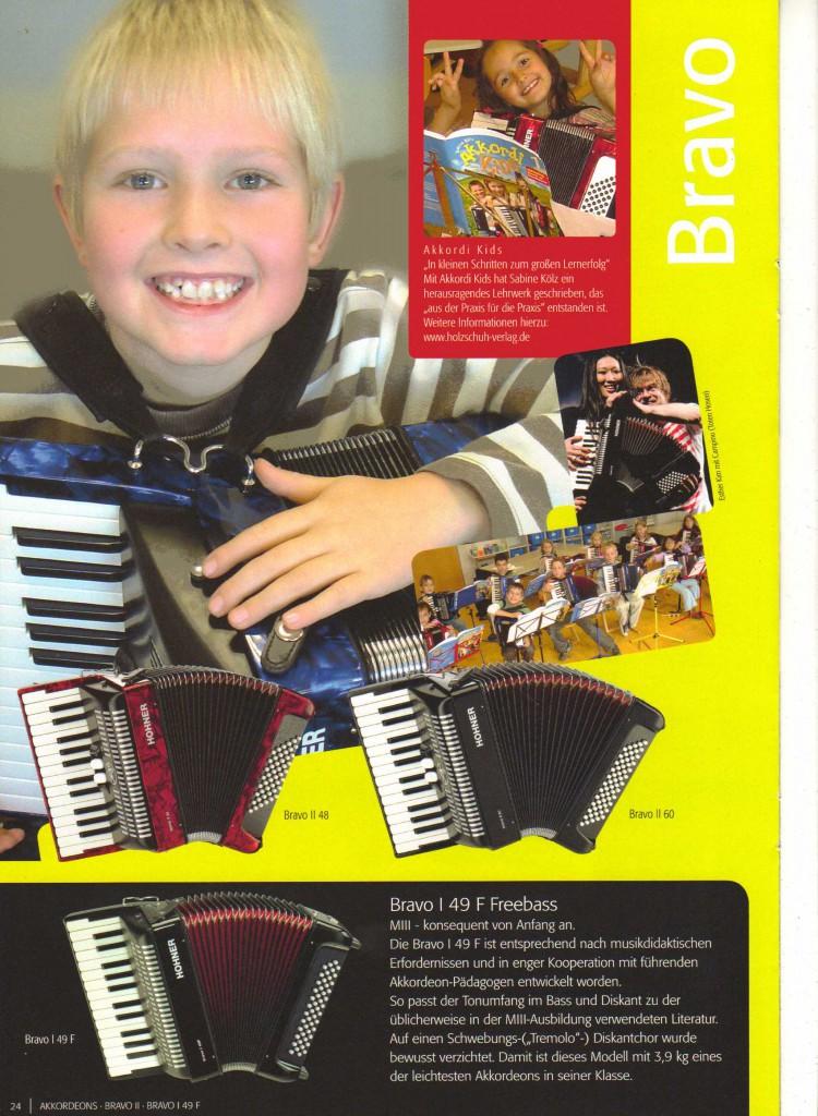 Hohner, детский аккордеон Bravo