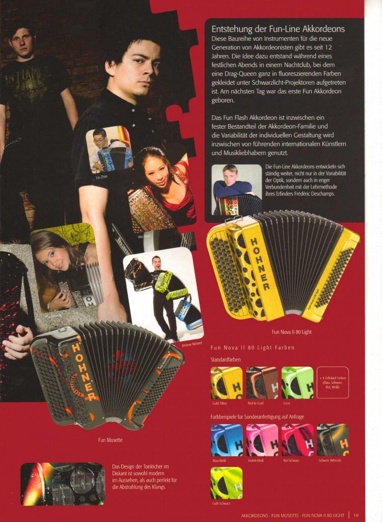 Hohner, французский  аккордеон Fun