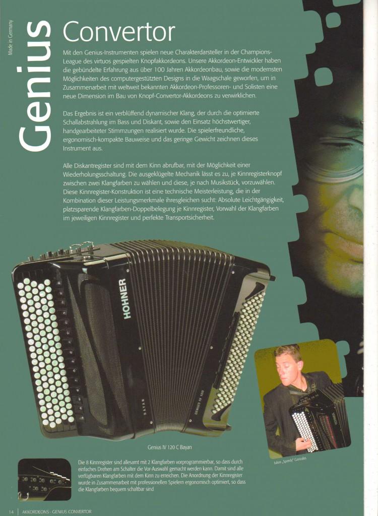 Hohner, баян концертный готово-выборный Genius