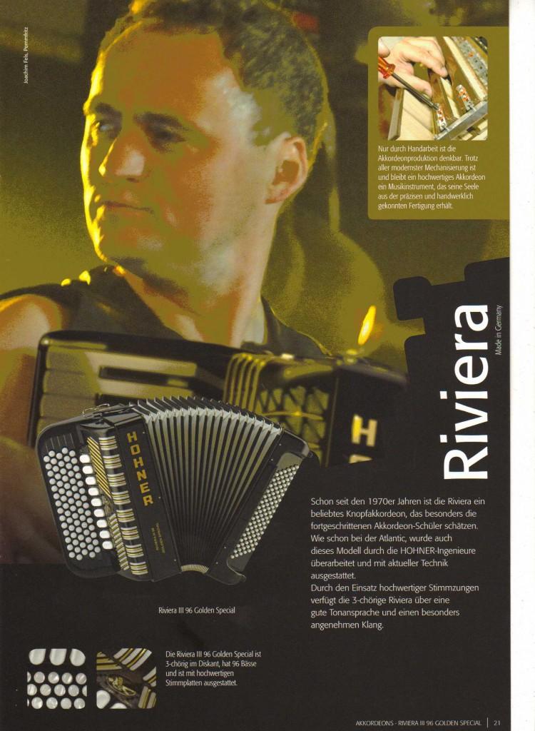 Hohner, кнопочный аккордеон Riviera