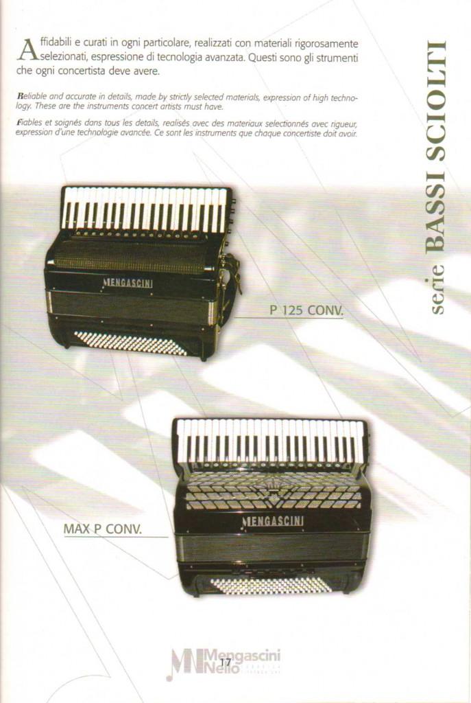 Mengascini, выборный концертный аккордеон