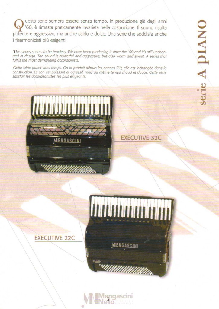 Mengascini, аккордеон, Accordion