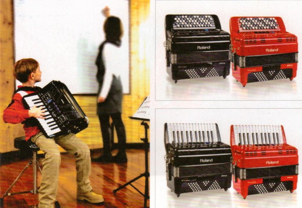 Roland, цифровой аккордеон детский FR-1