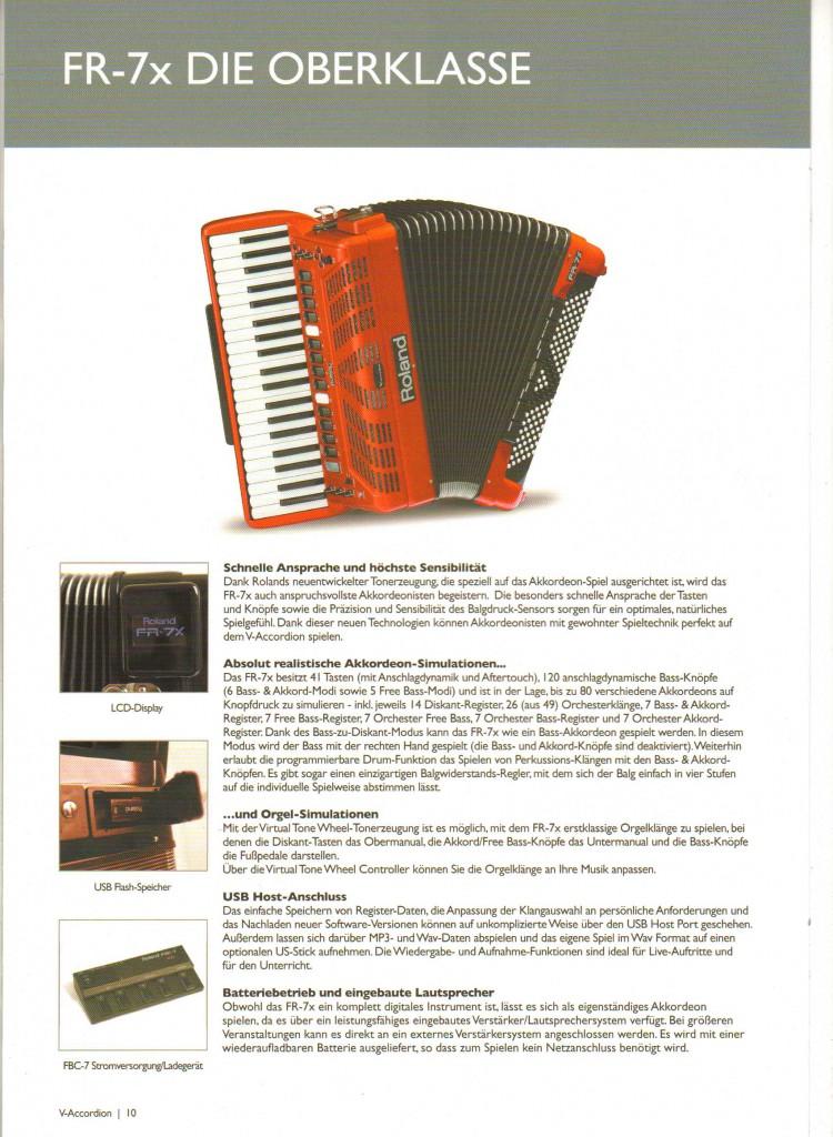 Roland, цифровой аккордеон FR-7x высшего класса