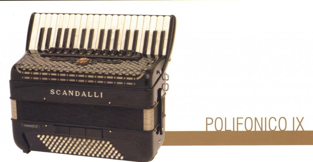 Scandalli, аккордеон Polifonico