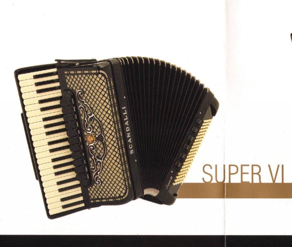 Scandalli, аккордеон Super