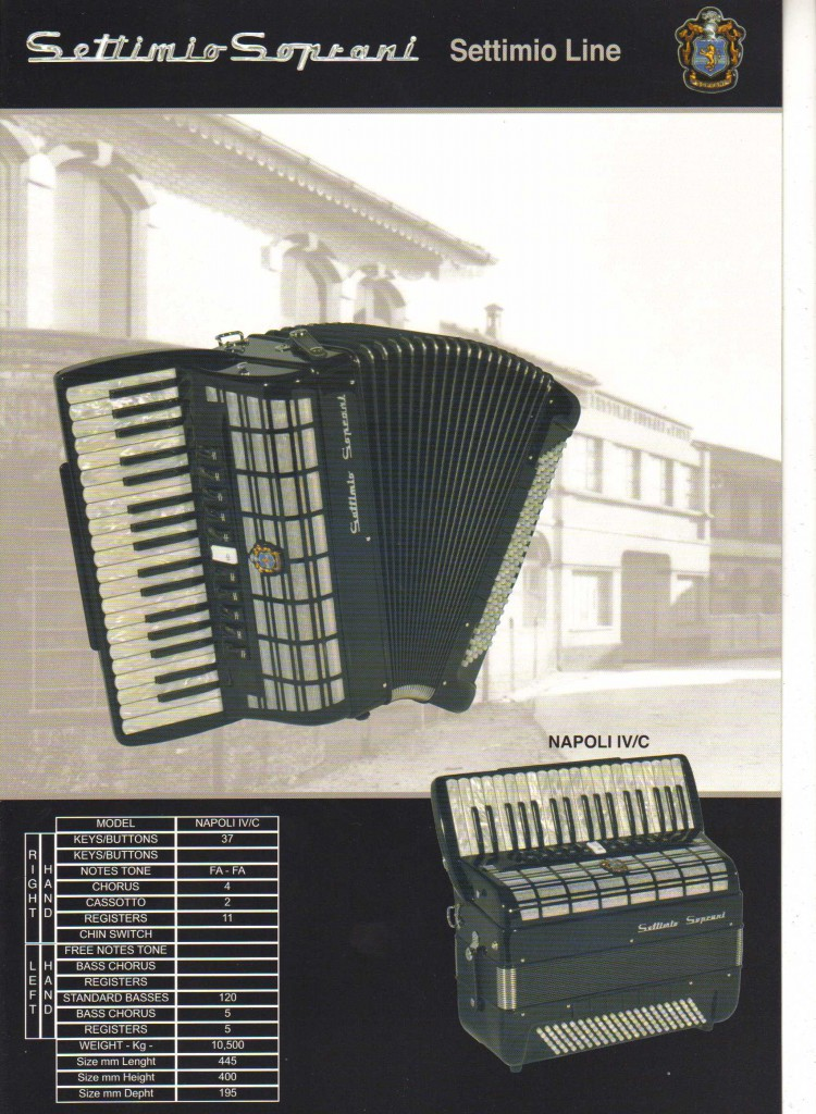 Settimio Soprani, аккордеон, Accordion Napoli