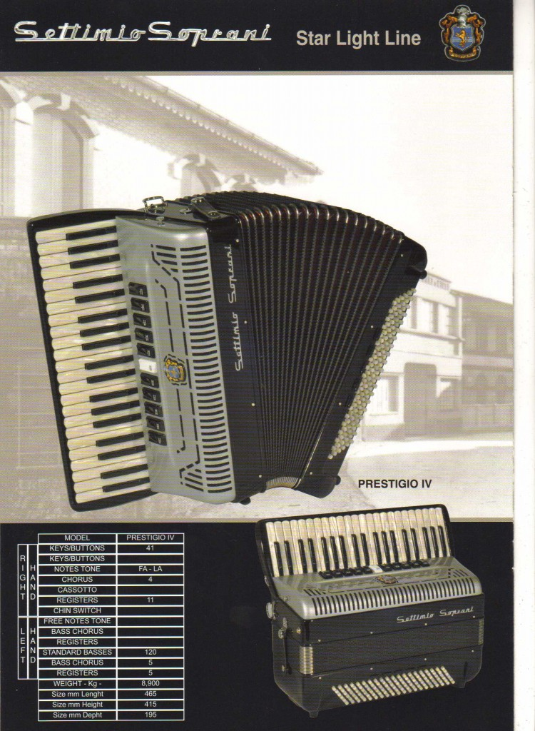 Settimio Soprani, аккордеон, Accordion