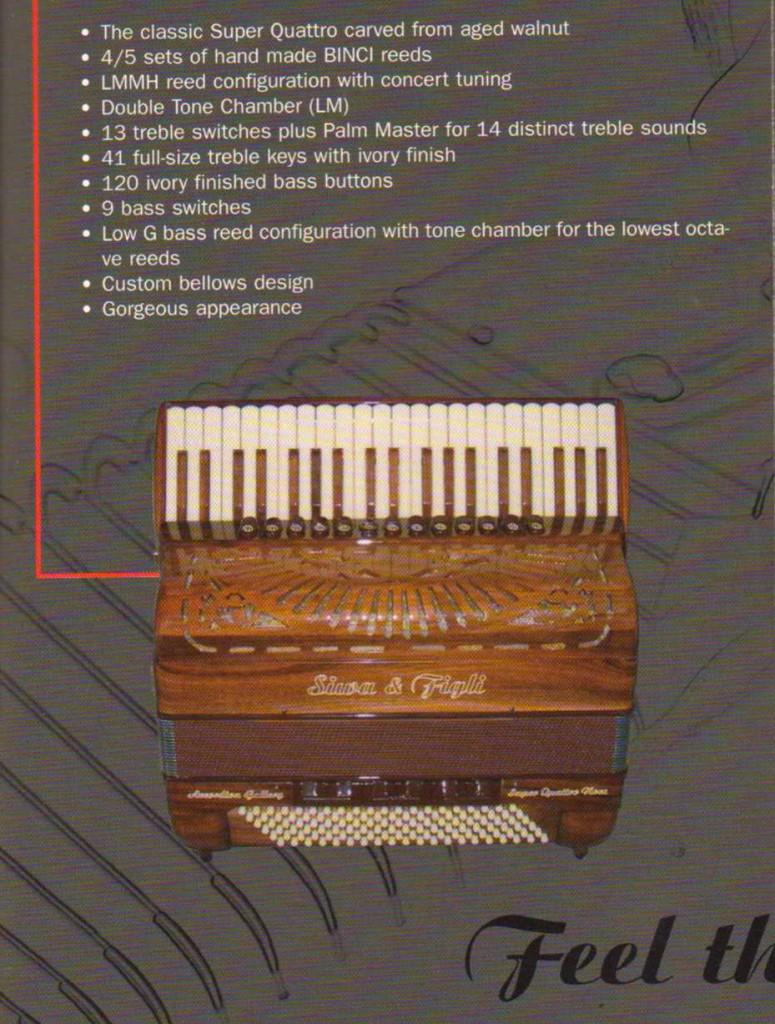 Siwa&Figli, аккордеон из дерева