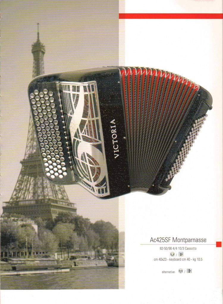 Victoria, французский аккордеон Montparnasse