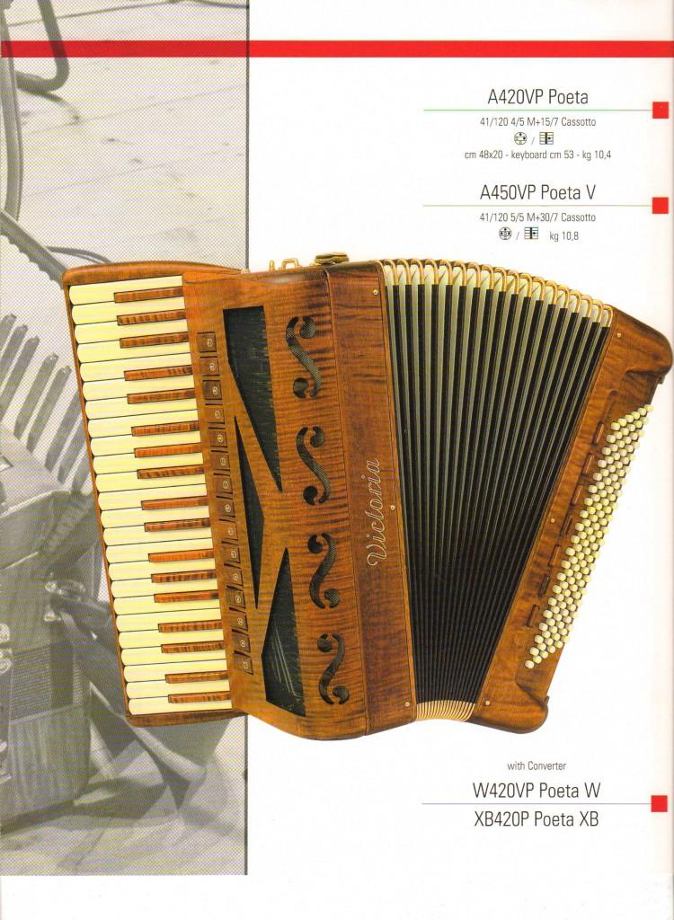 Victoria, деревянный аккордеон Poeta