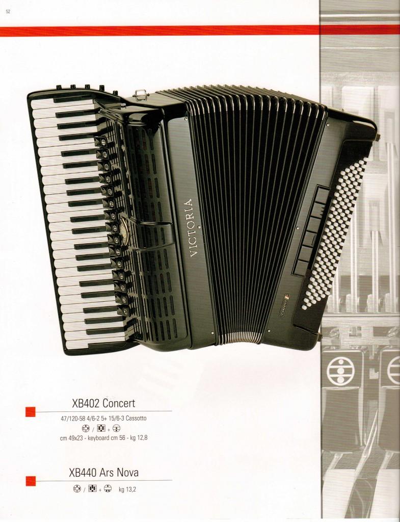 Концерный выборный аккордеон  Concert, Ars Nova