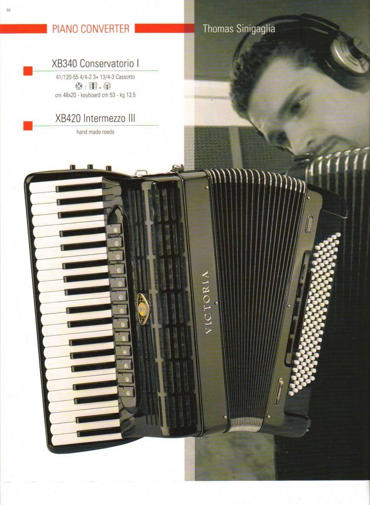 Учебный  выборный аккордеон Conservatorio