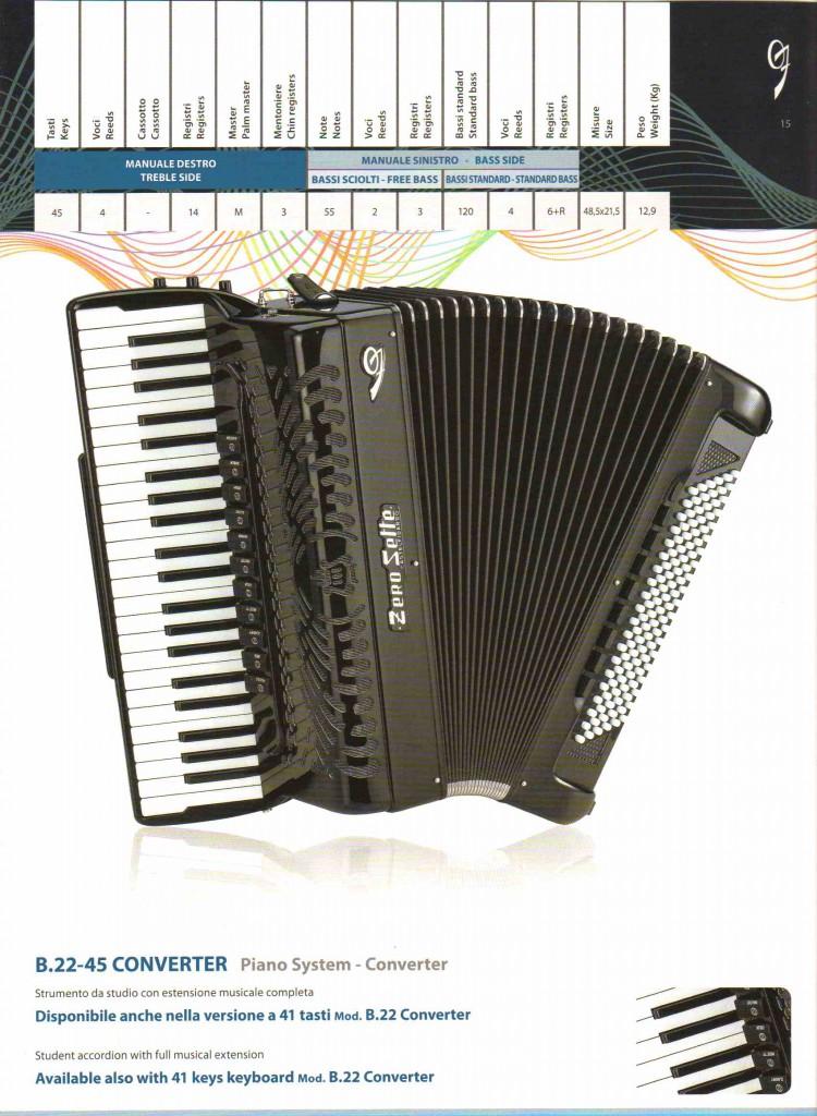 Zero Sette, аккордеон, Akkordeon, Piano-Converter