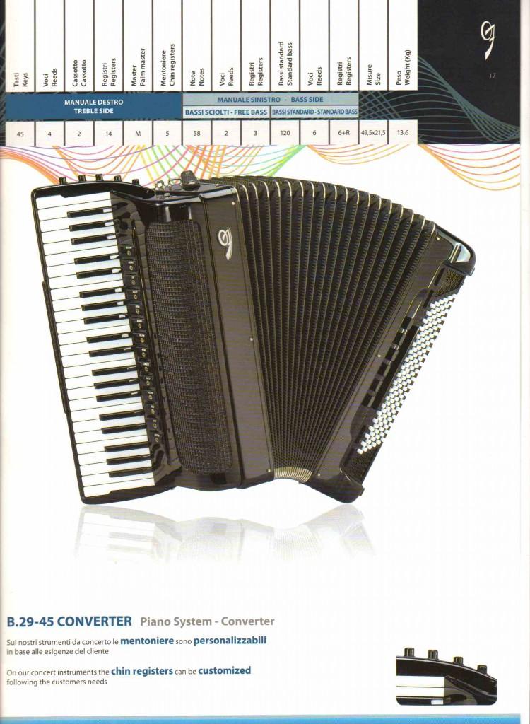 Zero Sette, концертный аккордеон