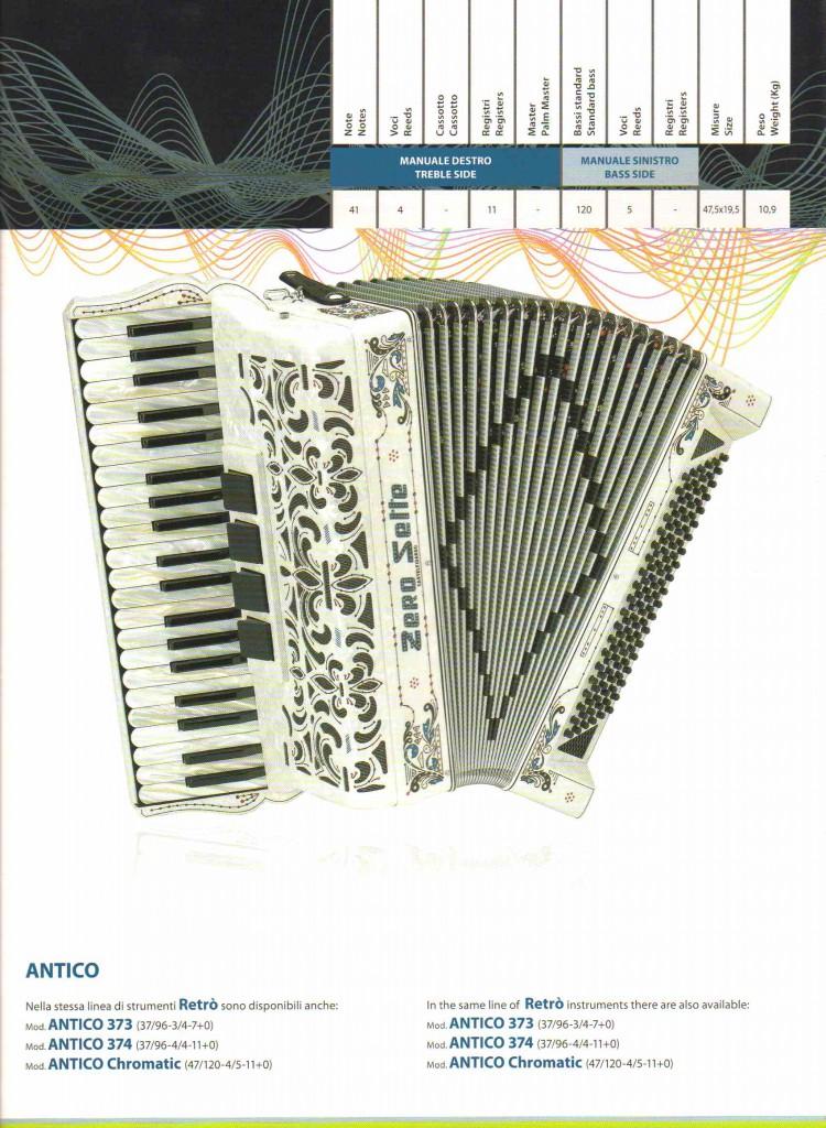 Zero Sette, аккордеон Antico