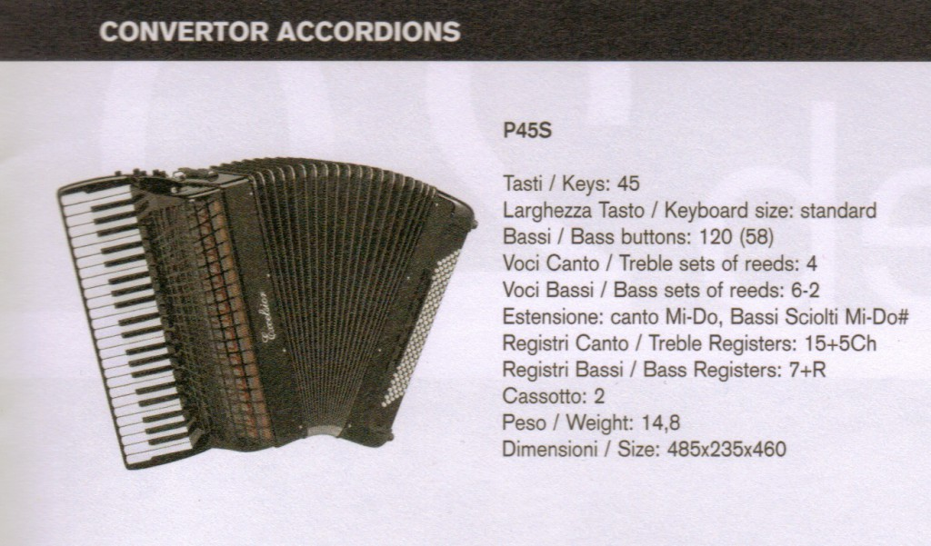 Excelsior. Выборный концертный аккордеон