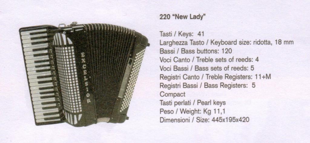 Excelsior. Компактный аккордеон New Lady, Compact