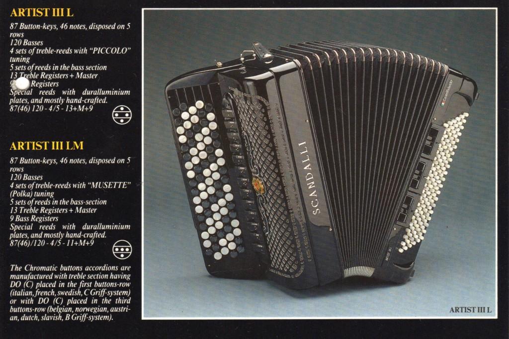 Scandalli, кнопочный аккордеон Artist