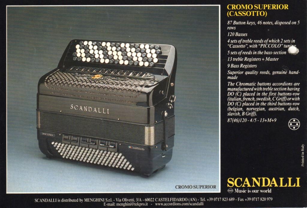 Scandalli, кнопочный аккордеон Superior