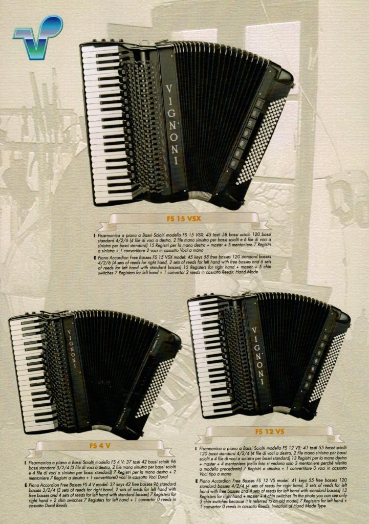 Vignoni, концертный выборный аккордеон