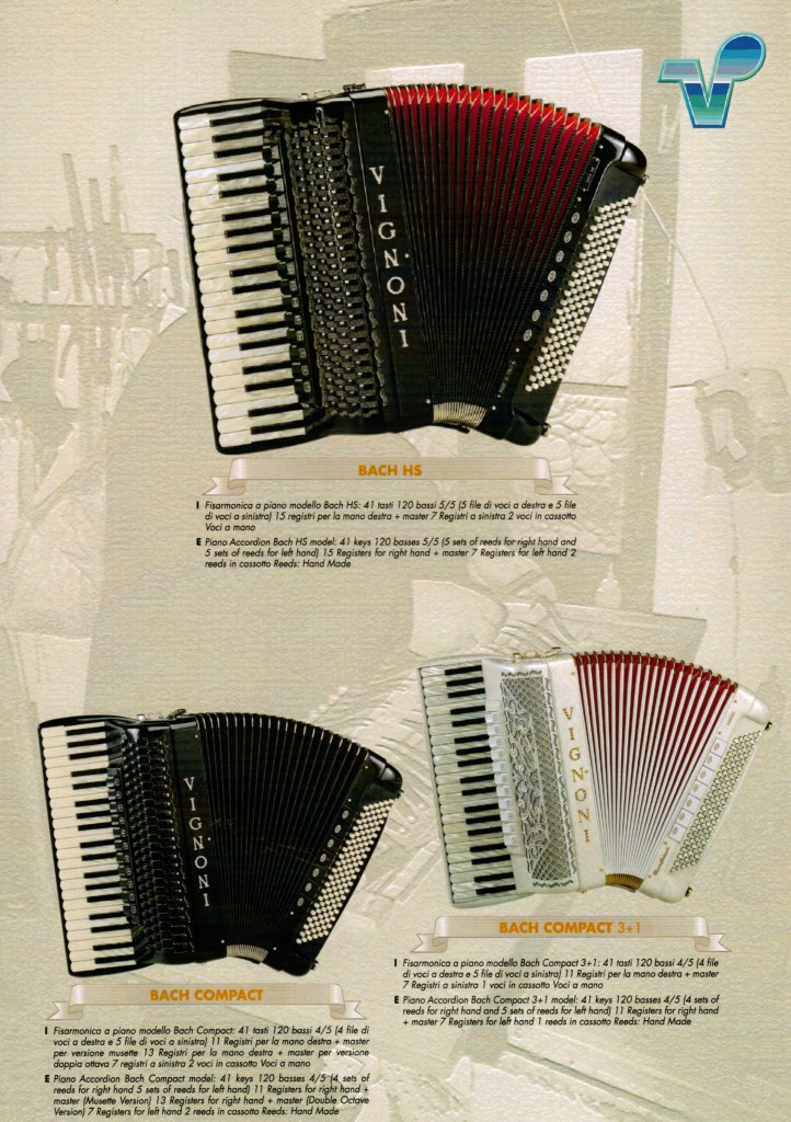 Vignoni, аккордеоны модели Bach
