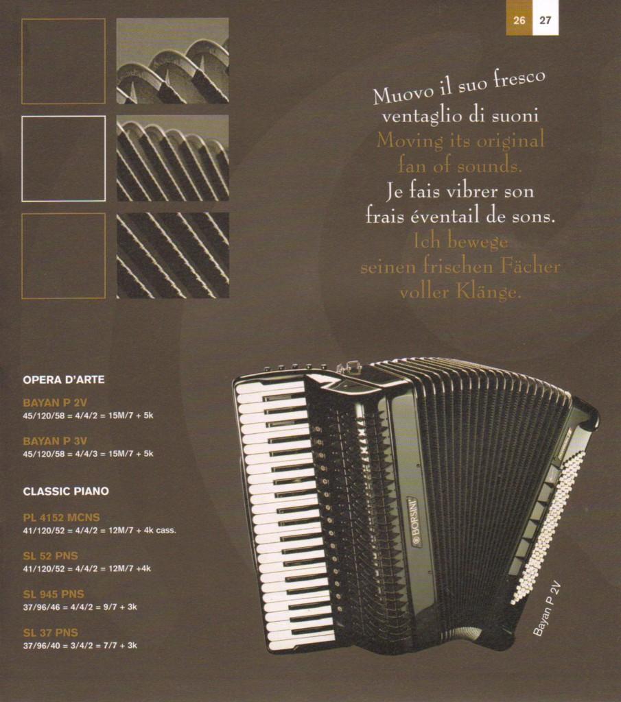 Borsini. Концертный аккордеон